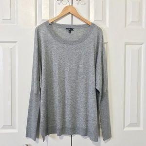 Valette Gray Grey Wool Blend Dolman Sleeve Sweater